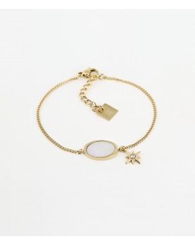 Bracelet Zag Laguna acier doré