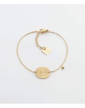 Bracelet Zag Paros acier doré