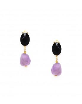 Clips Nature bijoux Purple...