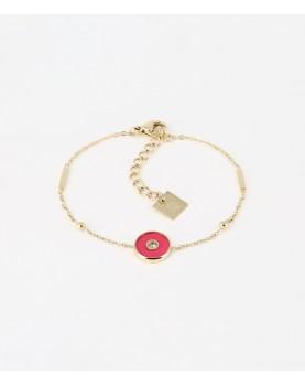 Bracelet Zag Liz acier doré
