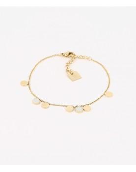 Bracelet ZAG Cachou acier doré