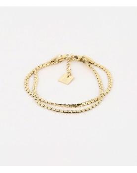 Bracelet Zag Serpenti acier...