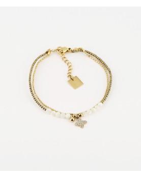 Bracelet Zag Sissi acier doré