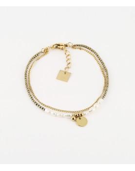 Bracelet Zag Supli acier doré
